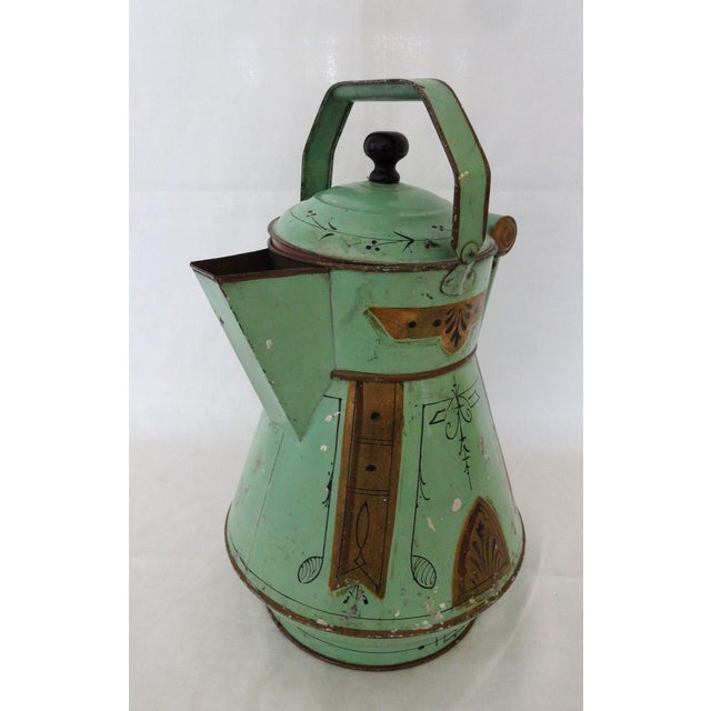 19th Century Toleware Water Kettle For Sale - Image 9 of 9