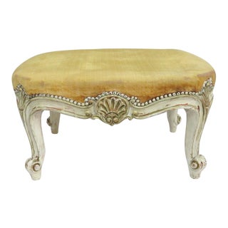 Louis XV Shell Carved Cream Footstool For Sale