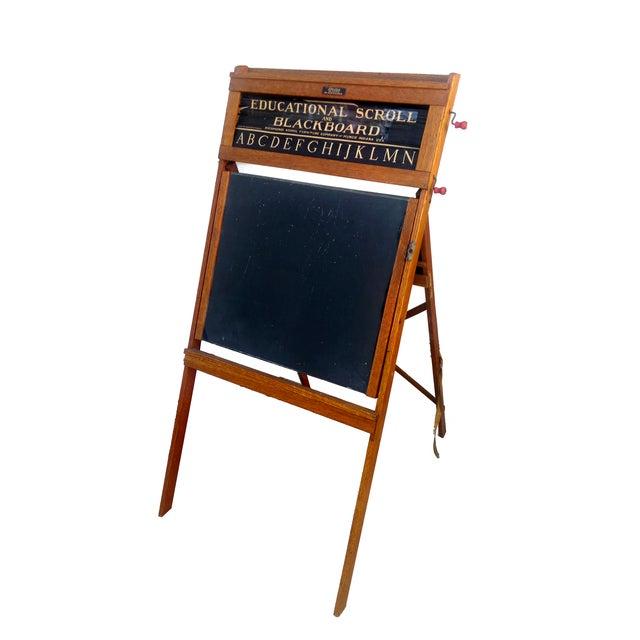 1930s Lithoplate Chalkboard & Art Desk - Image 1 of 10