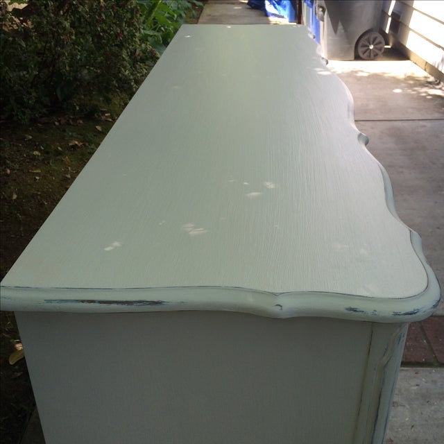 French French Provincal White Buffet Dresser For Sale - Image 3 of 11