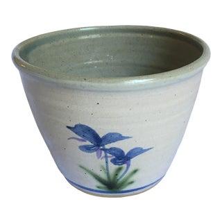 20th Century Salt Glazed Fine Pottery Cachepot For Sale