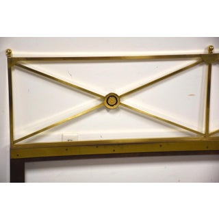 Solid Brass King Headboard by Baker Mid-Century Modern Preview