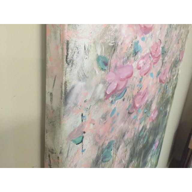 """True Colors"" Original Acrylic Flower Painting - Image 4 of 4"