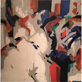 1970s Alec Murphy Modern Colorful Abstract Painting For Sale