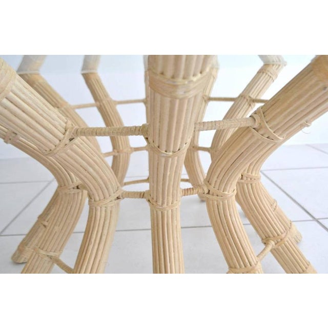 1960s Sculptural Midcentury Rattan Cocktail Table For Sale - Image 5 of 8