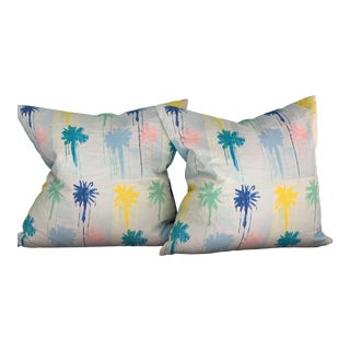 Kerri Rosenthal Pom-Poms Pillows - a Pair For Sale