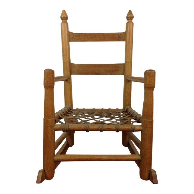 Vintage Carved Oak Rocking Chair - Image 1 of 5