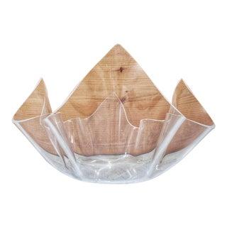Arthur Court Handkerchief Lucite Salad Serving Bowl For Sale