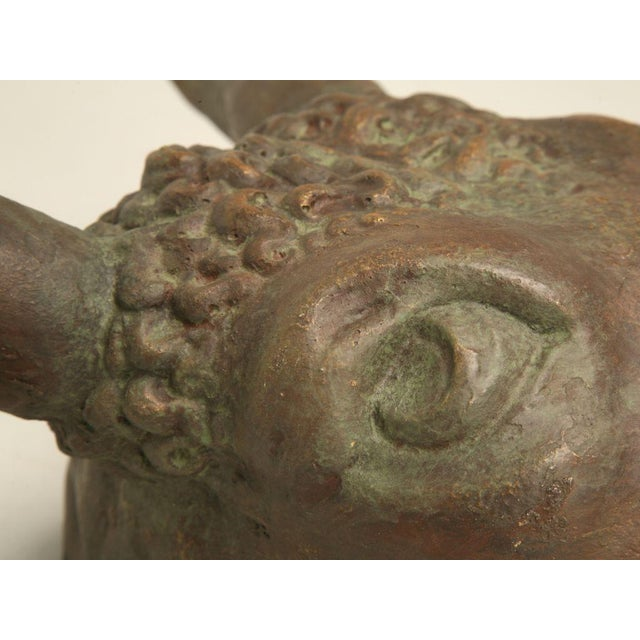 French Butcher Shop Steer Head For Sale - Image 4 of 9