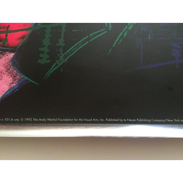 "Metal Andy Warhol Foundation Vintage 1992 Lithograph Print Framed Pop Art Poster "" Beethoven "" 1987 For Sale - Image 7 of 13"