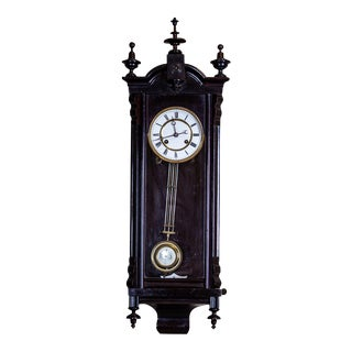 19th-Century Louis Philippe Wall Clock For Sale