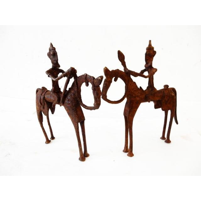 African Dogon Bronze Horseman Mali - Pair - Image 10 of 10