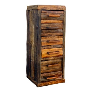 Rustic Cabin 6 Drawer Log Chest For Sale
