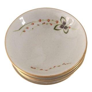 Vintage Floral Dessert Bowls - Set of 7 For Sale