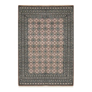 Transitional Hand Woven Rug - 4'2 X 5'9 For Sale