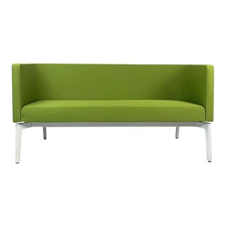 Postmodern Green Sofa Settee by Steelcase For Sale