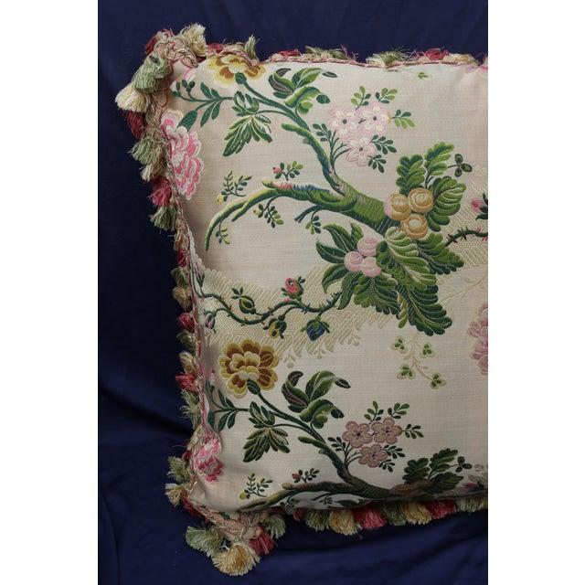 Late 20th C. Italian Silk Velvet Scalamandre Pillow For Sale - Image 4 of 7