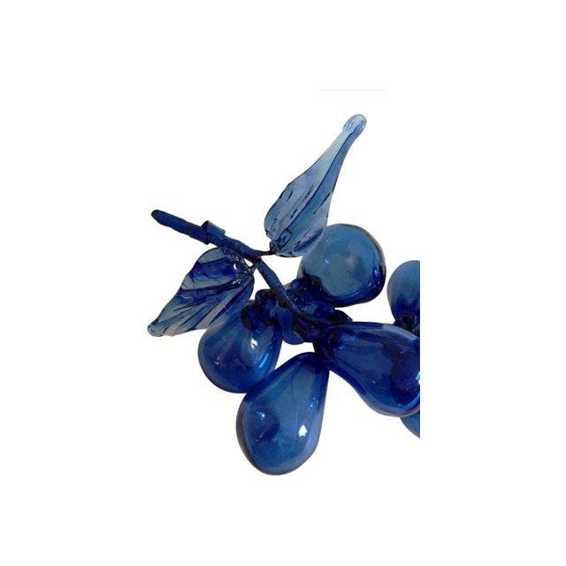 Cobalt Blue Glass Grape Cluster - Image 3 of 5