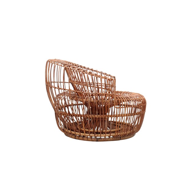 Boho Chic Franco Albini Bamboo Sculptural Lounge Chair For Sale - Image 3 of 13