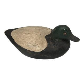 Vintage Carved Wooden Duck Decoy For Sale