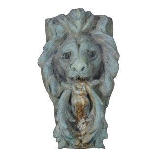 Mid 20th Century Vintage Lion Head Concrete Fountain Spout For Sale