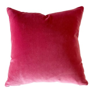 "Forsyth Loro Piana Velvet Pillow, 18"" For Sale"