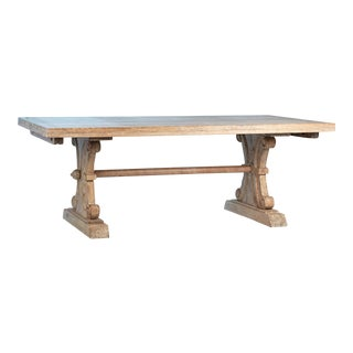Carved Wood Extendable Dining Table For Sale
