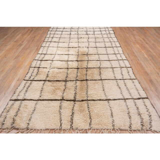 """Textile Vintage Tribal Moroccan Rug-6'4x'12'3"""" For Sale - Image 7 of 9"""