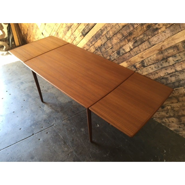 Mid-Century Danish Modern Refinished Dining Table - Image 8 of 8