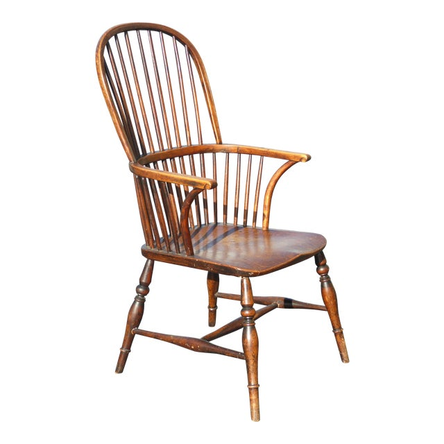 Amazing Early American Sack Back Windsor Accent Chair Andrewgaddart Wooden Chair Designs For Living Room Andrewgaddartcom