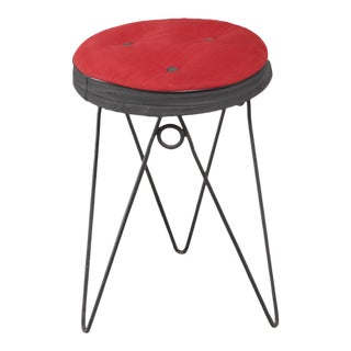 Jean Royere style Stool, France, 1950s For Sale