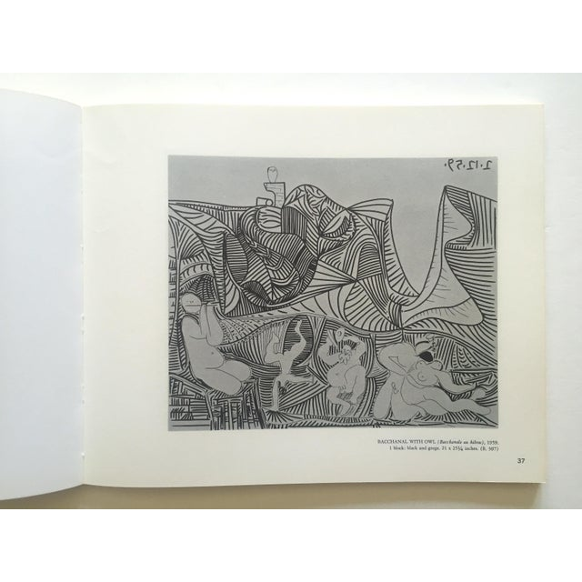 """ Picasso Linocuts 1958 - 1963 "" Rare Vintage 1968 1st Edition Lithograph Print Collector's Exhibition Art Book For Sale - Image 12 of 13"