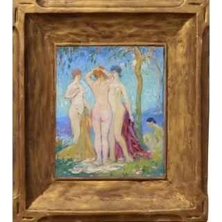 """Abel Warshawsky """"The Three Graces"""" C. 1929 Painting For Sale"""
