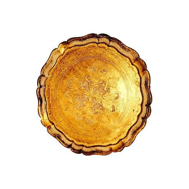 Vintage Venetian Gilt & Ivory Tray - Image 1 of 3