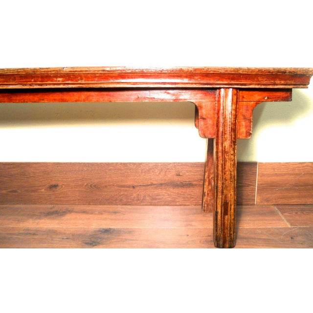 Antique Chinese Ming Long Bench - Image 5 of 10
