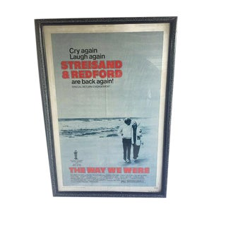 "Mid Century Modern Original 1975 The Way We Were Movie Poster 43"" Framed"