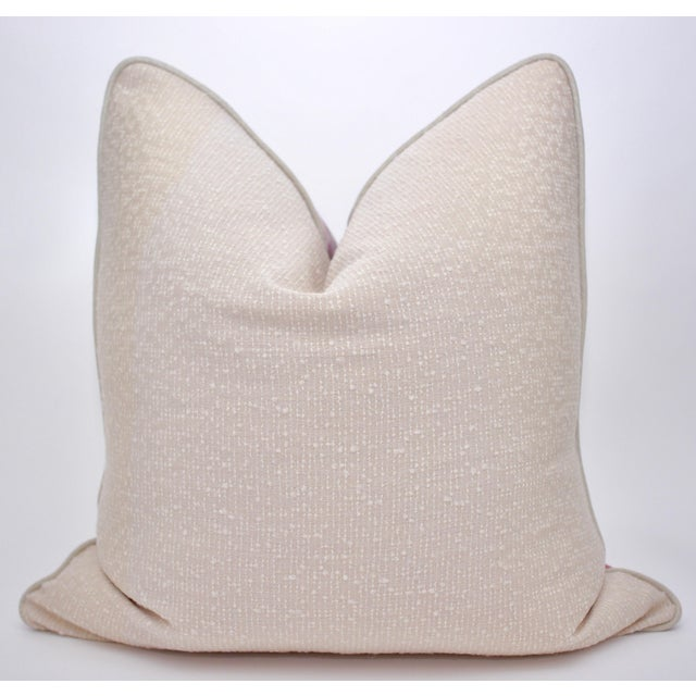 """Beautifully handmade 24"""" Square TylerGraphic pillow in a stunning hand blocked linen. This fabric will not be available..."""