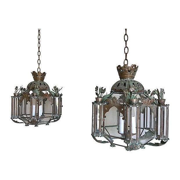 Mid-Century Moroccan Lantern Pendants - A Pair - Image 2 of 7