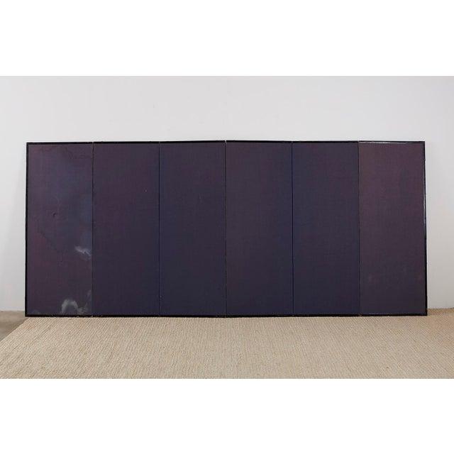 Japanese Six Panel Meiji Landscape Screen For Sale - Image 12 of 13