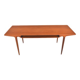 Johannes Andersen for Cfc Teak Coffee Table With Storage For Sale