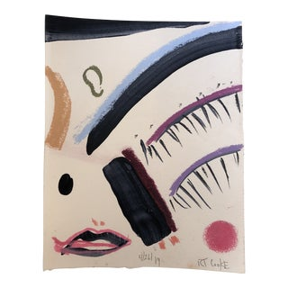Original Contemporary Robert Cooke Abstract Deconstructed Face Painting For Sale