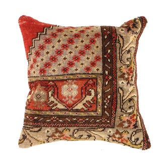 Pasargad Vintage Hand Knotted Rug Pillow