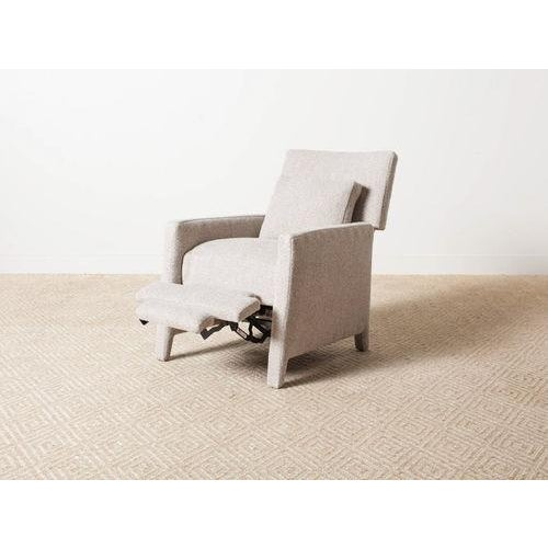 Contemporary Contemporary Verellen Tan Wool Upholstered Alois Recliner For Sale - Image 3 of 7