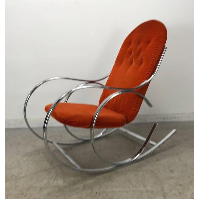 Vintage Chrome Thonet Bilo Baughman Style Club Chair/midcentury Modern Chair Antiques