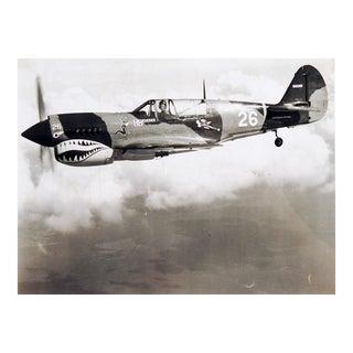 1980sRestored P-40 Warhawk Aerial Photograph