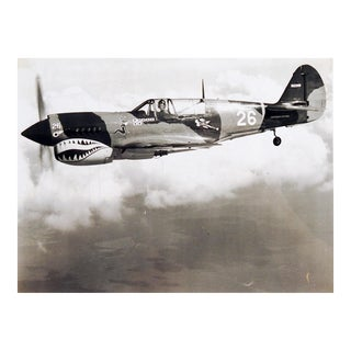 Restored P-40 Warhawk Airplane Photograph, Circa 1980's For Sale