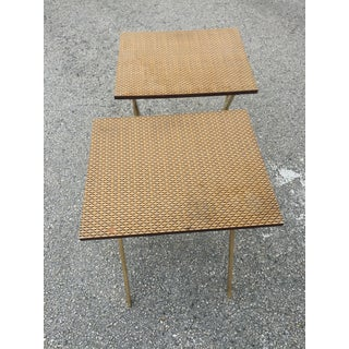 Mid Century Modern Artex Folding Side Tables - a Pair Preview