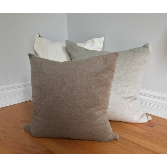 Animal Skin Oatmeal Alpaca & Wool Pillow For Sale - Image 7 of 7