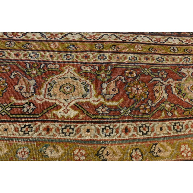 Late 19th Century Antique Persian Sultanabad Palace Rug- 10′2″ × 16′4″ For Sale - Image 4 of 9