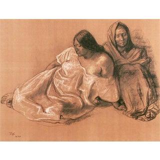 Francisco Zuniga Lithograph 'Mujeres Sentadas' 1974 For Sale